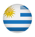 isolated flag of uruguay vector image vector image