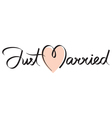 just married hand lettering vector image