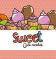 kawaii sweets and candies cartoon vector image
