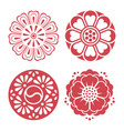 korean traditional design elements vector image vector image