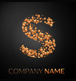 letter s logo gold dots alphabet logotype vector image