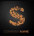 letter s logo gold dots alphabet logotype vector image vector image