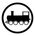 Locomotive button on white vector image vector image