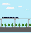 maglev rail train vector image