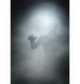 Man in fog vector image vector image