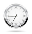 modern clock with roman numerals vector image