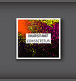 neon watercolor explosion shape artistic covers vector image