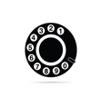 Old phone dialer icon vector image