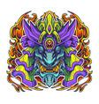 oni samurai head mascot logo vector image vector image