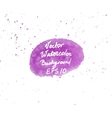 Pink and purple watercolor hand painted oval shape vector image vector image