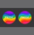 pride symbol with rainbow flag concept human vector image