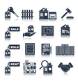 Real Estate Black Icons vector image