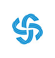 ribbon stripes circle swirl motion logo vector image vector image