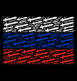 russian flag pattern of sword icons vector image