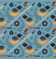seamless pattern with swords epaulettes pistols vector image vector image