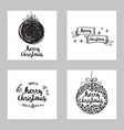 set of greeting christmas cards vector image vector image