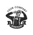 skull man barbershop vector image