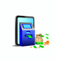 smartphone with atm machine mobile banking online vector image vector image