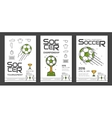 Soccer championship posters vector image vector image
