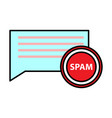 spam email warning window appear on laptop screen vector image vector image