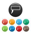 speech bubble icons set color vector image