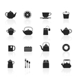 Tea Icons Set vector image vector image