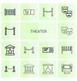 theater icons vector image vector image