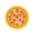 thinly italian pizza with traditional ingredients vector image vector image
