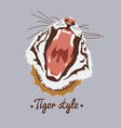 tiger style design vector image vector image