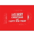Typographic Christmas card design vector image vector image