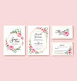 wedding invitation save the date thank you rsvp vector image