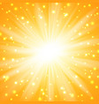yellow sunburst background vector image