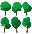Set of cartoon trees vector image
