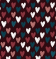 Seamless pattern with scratched hearts vector image