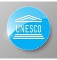 UNESCO Flag Button vector image