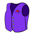 men vest icon cartoon vector image