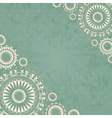 Abstract background with floral lace vector image vector image