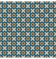 Abstract pattern with blue flowers
