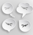 Airliner White flat buttons on gray background vector image vector image