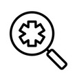 ambulance search linear icon vector image vector image