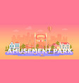 amusement park - modern flat design style vector image vector image