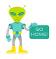 angry alien say go home vector image
