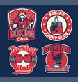 badge design of boxing vector image vector image