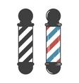 barber shop pole vector image vector image