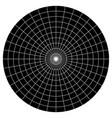 blank polar graph paper - protractor - pie chart vector image vector image