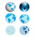 Blue Earth Globe Collection vector image vector image