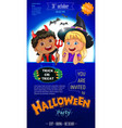 blue halloween poster template vector image