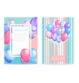 bright balloon background vector image vector image