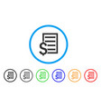 business contract page rounded icon vector image vector image