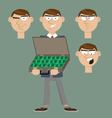 businessman holds a suitcase with money vector image vector image